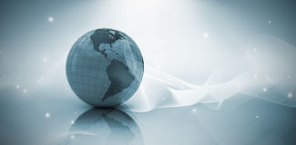Composite image of 3d image of globe Royalty Free Stock Image