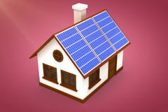 Composite image of 3d image of house with solar panels Stock Photos