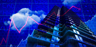 Composite image of 3d image of modern office Royalty Free Stock Image