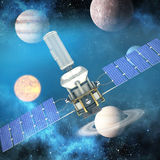 Composite image of 3d image of modern power solar satellite Royalty Free Stock Image
