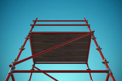 Composite image of 3d image of red scaffolding Stock Photo