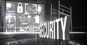 Composite image of 3d security items Stock Image