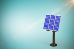 Composite image of 3d solar panel Royalty Free Stock Photo