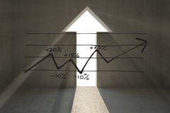 Composite image of data analysis doodle Royalty Free Stock Image
