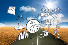 Composite image of data analysis doodles Stock Images