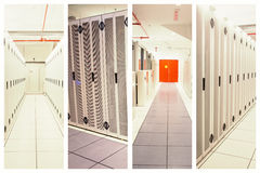 Composite image of data center Royalty Free Stock Photos