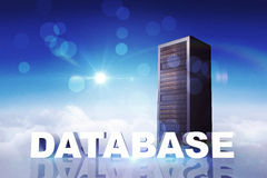 Composite image of database Royalty Free Stock Images