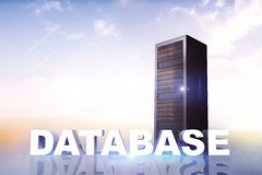 Composite image of database Royalty Free Stock Photo