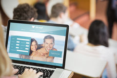Composite image of dating website Royalty Free Stock Photo