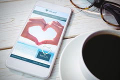 Composite image of dating website Royalty Free Stock Images