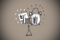 Composite image of deadline doodles Royalty Free Stock Images