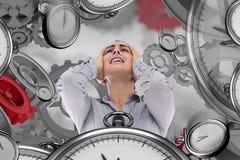 Composite image of desperate businesswoman Stock Image