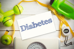 Composite image of diabetes Royalty Free Stock Photography