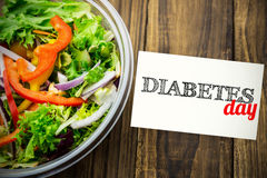 Composite image of diabetes day Stock Photos