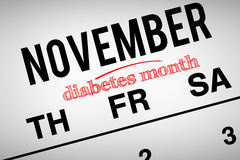 Composite image of diabetes month Royalty Free Stock Image