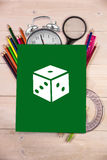 Composite image of dice doodle Royalty Free Stock Images