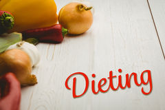 Composite image of dieting Royalty Free Stock Images