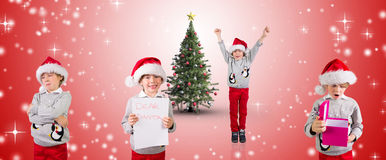 Composite image of different festive boys Stock Photo