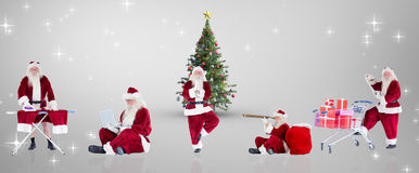 Composite image of different santas Royalty Free Stock Photography