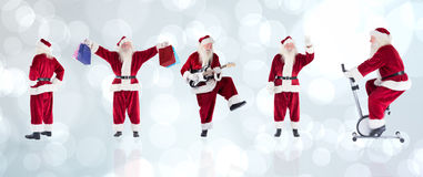 Composite image of different santas Royalty Free Stock Photo