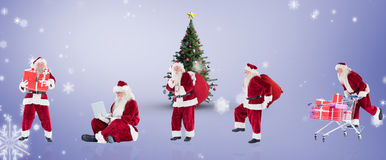 Composite image of different santas Royalty Free Stock Image