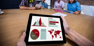 Composite image of digital composite image of business presentation Royalty Free Stock Photography