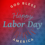 Composite image of digital composite image of happy labor day and god bless america text Stock Images