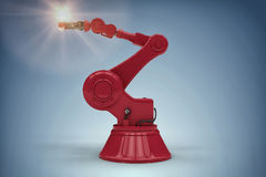 Composite image of digital generated image of robotic arm holding filament 3d Royalty Free Stock Images