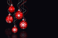 Composite image of digital hanging christmas bauble decoration Stock Photo