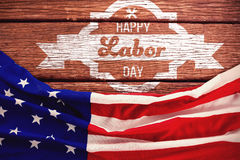 Composite image of digital composite image of happy labor day banner royalty free stock photo