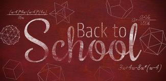 Composite image of digital image of back to school text Stock Photos
