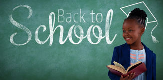 Composite image of digital image of back to school text Royalty Free Stock Images