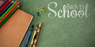 Composite image of digital image of back to school text Royalty Free Stock Image
