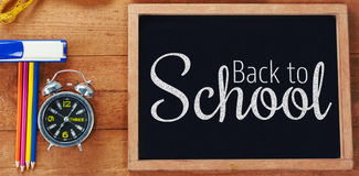 Composite image of digital image of back to school text Royalty Free Stock Photo