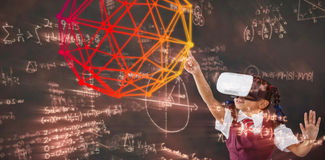 Composite image of digital image of geometric shape stock illustration