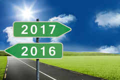 Composite image of digital image of new year 2017 Stock Images