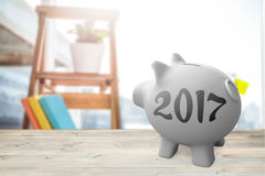 Composite image of digital image of new year 2017 Stock Photography