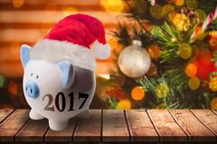 Composite image of digital image of new year 2017 Royalty Free Stock Photo