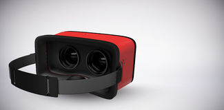 Composite image of digital image of red virtual reality simulator Stock Photography