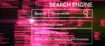 Composite image of digital image of search engine logo Stock Image