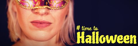 Composite image of digital image of time to halloween text Royalty Free Stock Photos