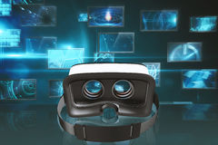 Composite image of digital image of virtual reality simulator Royalty Free Stock Image