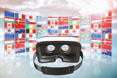 Composite image of digital image of virtual reality simulator Stock Images