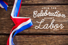 Composite image of digital composite image of join celebratio event labor day text Stock Image