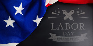 Composite image of digital composite image of labor day celebration text Royalty Free Stock Photography
