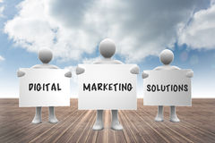 Composite image of digital marketing solutions Stock Photos