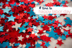 Composite image of digital composite image of time to happy labor day text Royalty Free Stock Image