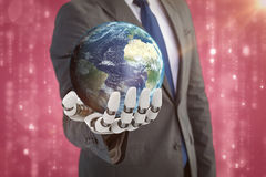 Composite image of digitally genearated image of earth 3d Royalty Free Stock Image