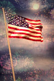 Composite image of digitally generated american national flag Stock Photo