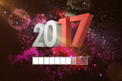 Composite image of digitally generated 3D gray and red numbers Royalty Free Stock Photos
